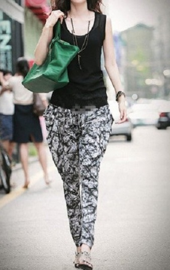 desenli şalvar pantolon modeli