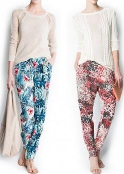 desenli 2013 bayan şalvar pantolon modeli