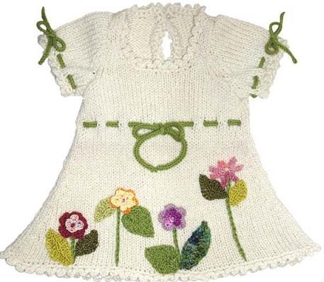 desenli 2013 kız cocuk örgü elbise modeli