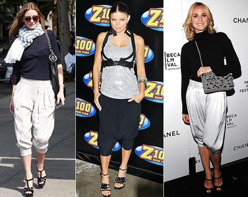 farklı modellerde şalvar pantolon modeli