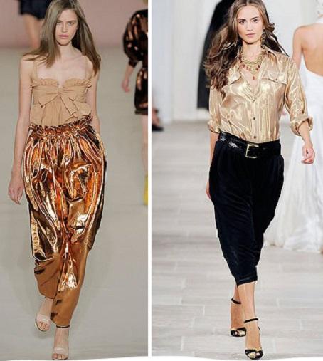iki farklı modelde şalvar pantolon modeli