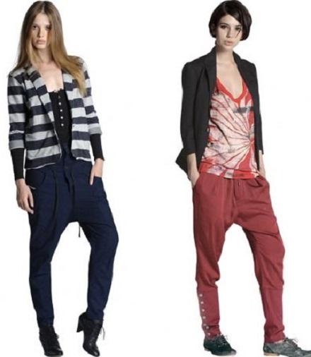iki farklı modelde yeni şalvar pantolon modeli