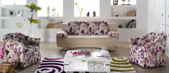 lila çiçekli istikbal koltuk takımı modeli