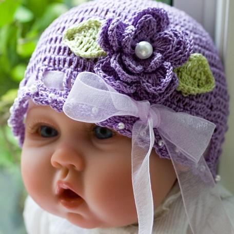 lila yeni sezon kız çocuk şapka modeli tasarımı