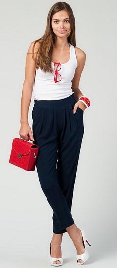 siyah yazlık bayan şalvar pantolon modeli