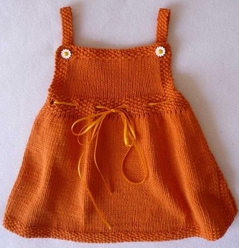 turuncu yeni trend kız çocuk elbise modeli