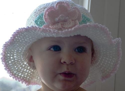 yeni moda modern kız çocuk şapka örnek modeli