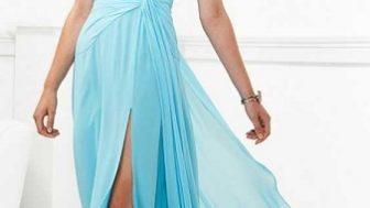 Bayan Şifon Abiye Elbise Modelleri