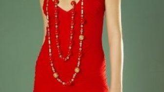 Kırmızı Bayan Elbise Modelleri 2014