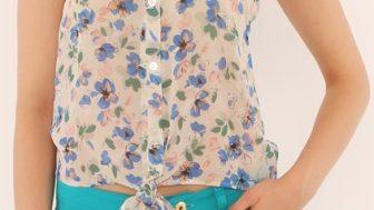 Bayan Bağcıklı Gömlek Modelleri