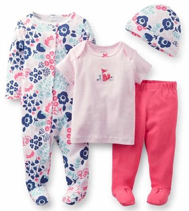 H And M Bebek Tulum çiçek desenli carters kız bebek tulum takımı modeli - Kadın Moda