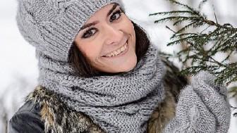 Bayan Atkı Bere Eldiven Örgü Takımı Modelleri