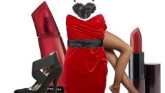 Yılbaşı Gecesi İçin Kırmızı Renk Elbise Kombin Modelleri