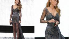 Fransız Dantel Bayan Abiye Elbise Modelleri