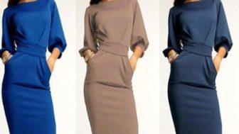 Ofis İçin Modern Bayan Elbise Modelleri