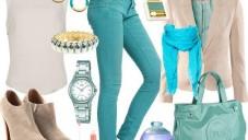 Jeans Pantolonlu Baharlık Bayan Kombinleri