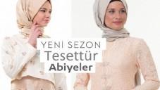 2015 Yeni Sezon Bayan Tesettür Abiye Elbise Modelleri