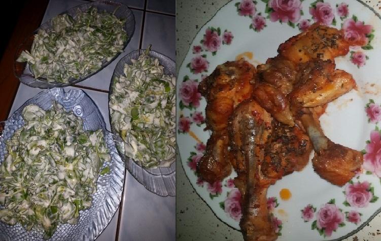 Tavuk but semiz otu salatası birinci gün ramazan menüsü tarifi