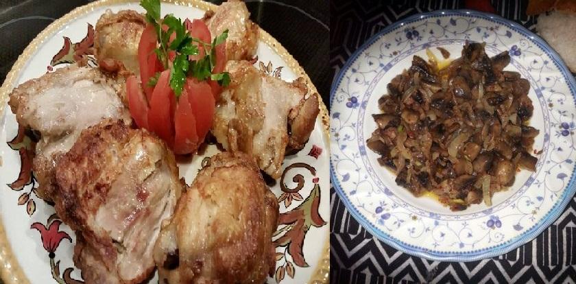 fırında sade tavuk mantar sote ramazan altıncı gün menüsü