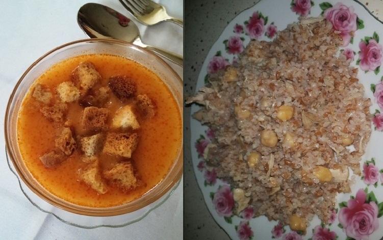 tarhana çorbası nohutlu bulgur pilavı birinci gün ramazan menüsü