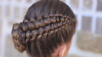 Kız Çocuk Örgü Tekniği Anlatımlı Saç Modelleri