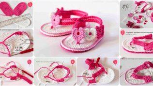 Şemalı Anlatımlı Kız Bebek Patik Modelleri