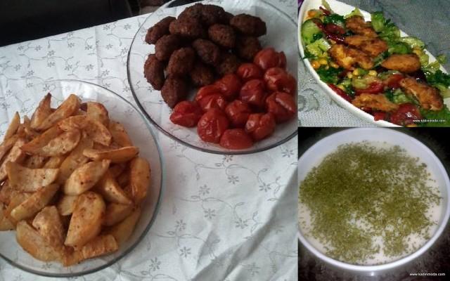 fırında köfte çorba tavuklu salata on beşinci gün ramazan menüsü