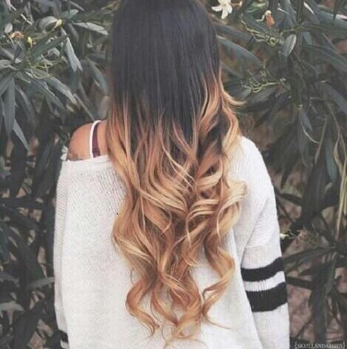 koyu kahve saç üzerien bal köpügü ombre modeli - Kadın Moda Uberhaxornova Tumblr Long Hair