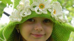 El Örgüsü Bebek Çocuk Şapka Modelleri