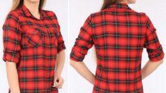 Ekose Kareli Kadın Oduncu Gömlek Modelleri