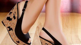 Yazlık Bayan Mantar Topuklu Ayakkabı Modelleri